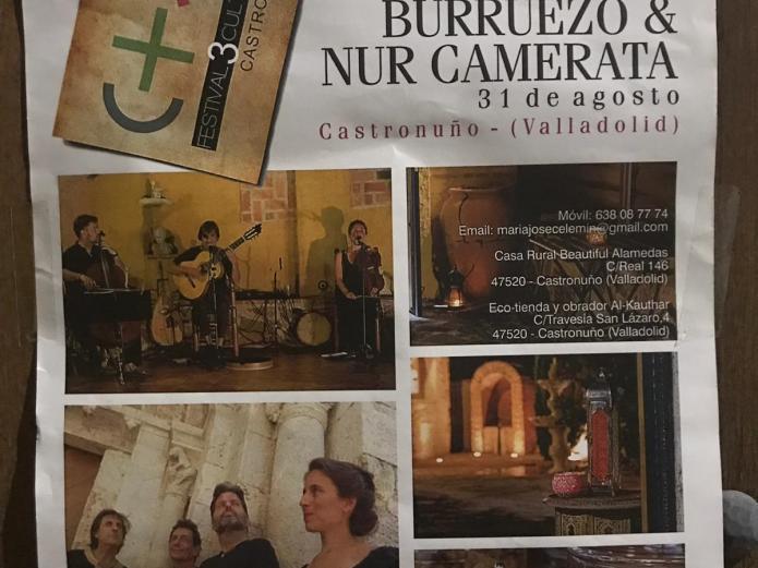 """El concierto """"Un aprendiz de sufi del s.xxi"""" fue un espectáculo único, en Castronuño Enseñanzas eternas con una música mítica"""