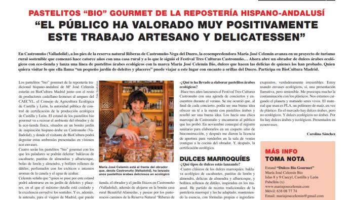 """NOVEDADES EN BIOCULTURA Pastelitos """"bio"""" gourmet de la repostería hispano-andalusí"""